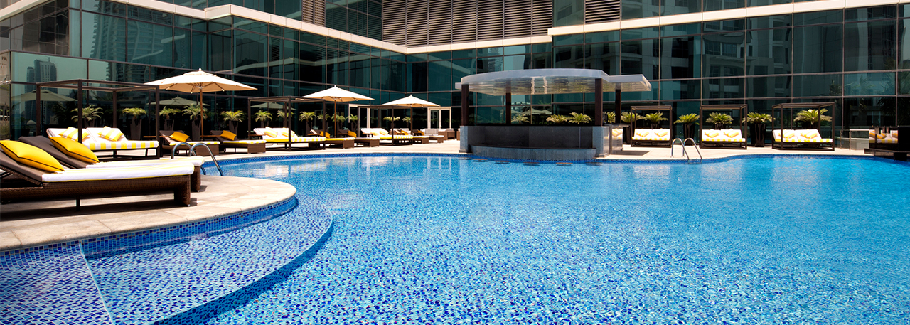 Taj Dubai Outdoor Pool Deck